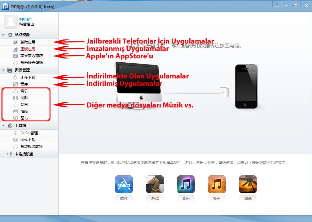 iphone jailbreak olmadan program yükleme